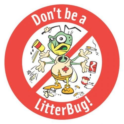 Don't litter around: