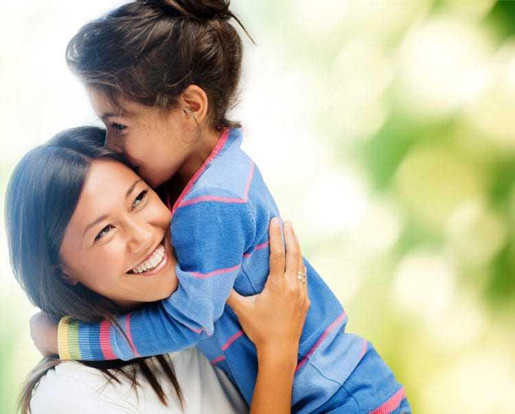 Parents Hug Kids