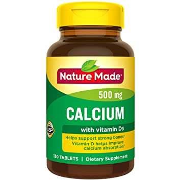Nature Made Calcium 500mg +