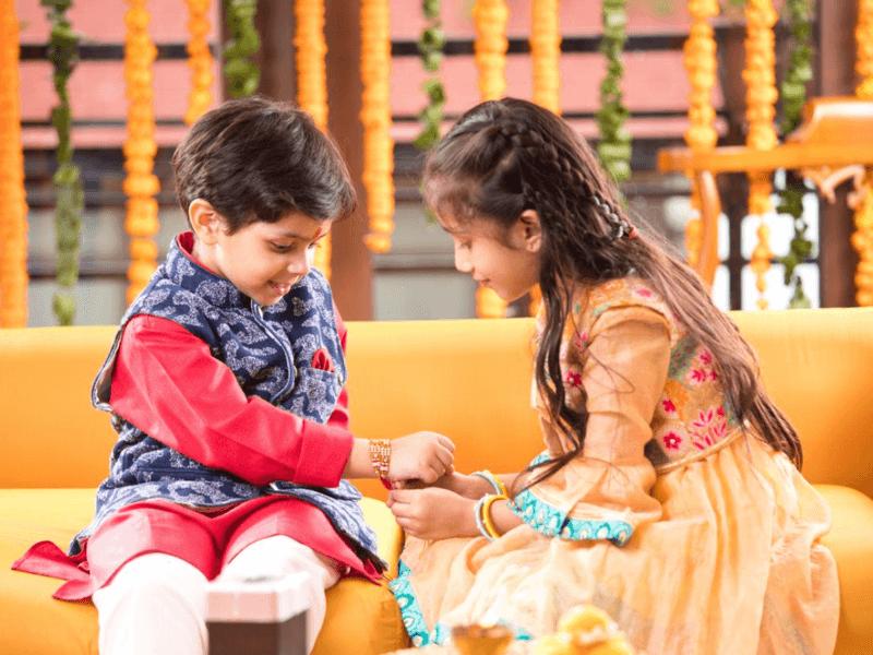 Raksha Bandhan celebration for kids