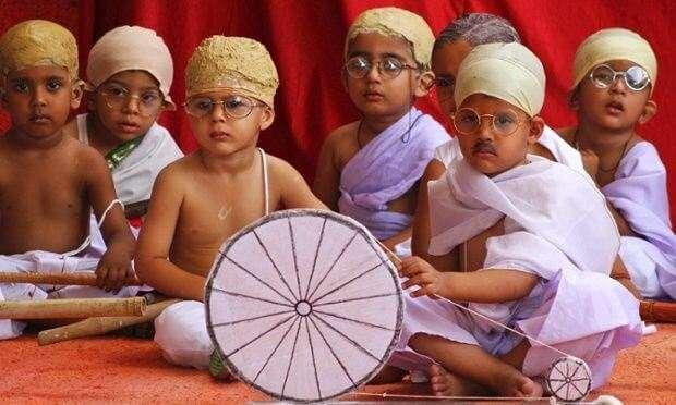 kids as mahatma gandhi