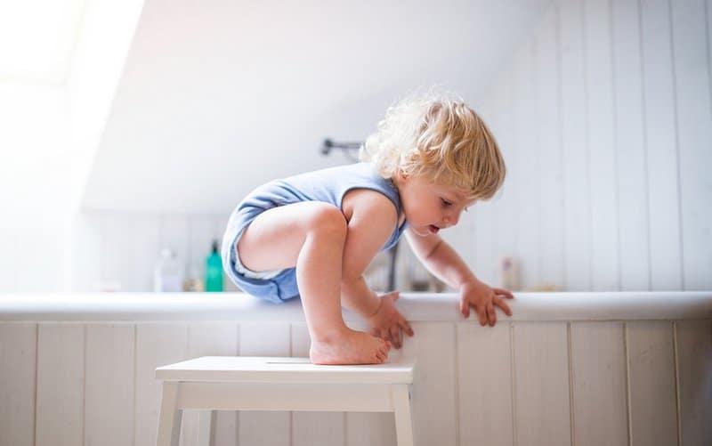 Bathroom Slips and Falls for children